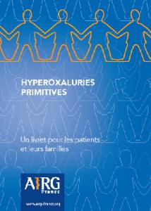 Le Livret sur les Hyperoxaluries Primitives est sorti