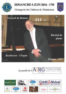 Le 5 juin 2016 à 17H Concert au profit de l'AIRG-France à Maintenon (28)