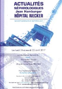 L'AIRG-France aux Actualités Néphrologiques Jean Hamburger en avril 2017