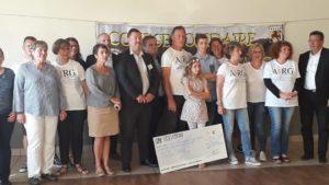 Course Solidaire des Deux Étangs : Remise de 2 chèques à l'AIRG-France