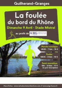 La Foulée du Bord du Rhône a couru pour l'AIRG-France, remise d'un chèque