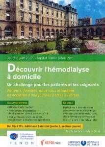Journée d'Information sur l'Hémodialyse Quotidienne à Domicile le 8 juin 2017