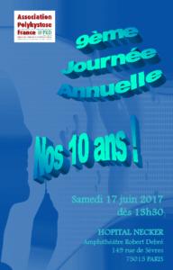 17 Juin 2017, Journée Annuelle de l'Association PKD France