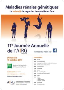 Dimanche 15 octobre 2017 : 11ème Journée Annuelle de l'AIRG-Belgique à Louvain-La-Neuve