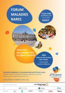 Le 14 juin 2018 Forum Maladies Rares à Nancy
