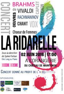 Le 2 juin 2018 Concert en faveur de l'AIRG-France à Maintenon