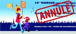 Samedi 8 décembre – Marche des Maladies rares : ANNULATION