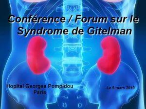 Journée sur le Syndrome de Gitelman