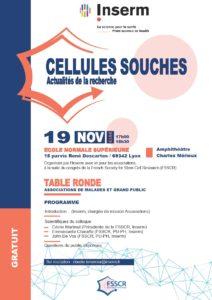 19 Novembre 2019 : Table ronde sur les cellules souches à Lyon