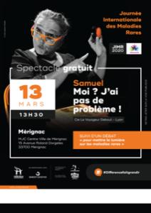 13 mars 2020 Projection du film : Samuel Moi? J'ai pas de problème !!! à Mérignac